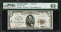 National Bank Notes, Portland, ME - $5 1929 Ty. 1 The Canal National Bank Ch. # 941 PMG Choice Uncirculated 63 EPQ.. ...