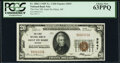 National Bank Notes:Michigan, Sault Ste Marie, MI - $20 1929 Ty. 1 The First National Bank Ch. # 3547 PCGS Choice New 63PPQ.. ...