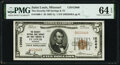 National Bank Notes:Missouri, Saint Louis, MO - $5 1929 Ty. 1 The Security National Bank Savings & Trust Company Ch. # 12066 PMG Choice Uncirculated...