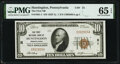 National Bank Notes:Pennsylvania, Huntingdon, PA - $10 1929 Ty. 1 The First National Bank Ch. # 31 PMG Gem Uncirculated 65 EPQ.. ...