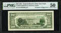 Error Notes:Third Printing on Reverse, Third Printing on Back Error Fr. 2073-B $20 1981 Federal Reserve Note. PMG About Uncirculated 50.. ...