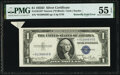 Butterfly Fold Error Fr. 1613N* $1 1935D Narrow Silver Certificate. PMG About Uncirculated 55 EPQ