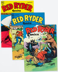 Golden Age (1938-1955):Western, Red Ryder Comics Group of 5 (Dell, 1945-49).... (Total: 5 Comic Books)