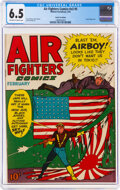 Golden Age (1938-1955):War, Air Fighters Comics V2#5 Cosmic Aeroplane Pedigree (Hillman Fall, 1944) CGC FN+ 6.5 Off-white to white pages....