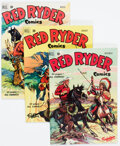 Golden Age (1938-1955):Western, Red Ryder Comics #88-90 and 92 Group (Dell, 1950-51).... (Total: 4 Comic Books)