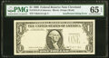 Missing Third Printing Error Fr. 1914-D $1 1988 Federal Reserve Note. PMG Gem Uncirculated 65 EPQ