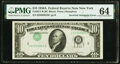 Error Notes:Inverted Third Printings, Inverted Third Printing Error Fr. 2011-B $10 1950A Federal Reserve Note. PMG Choice Uncirculated 64.. ...