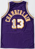 Autographs:Jerseys, Wilt Chamberlain Signed & Inscribed Los Angeles Lakers Jersey, Full LOA from PSA/DNA. ...