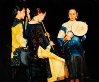 Manner of Chen Yifei (American/Chinese, 1946-2005) Beautiful Musicians Oil on canvas 23-1/2 x 28-