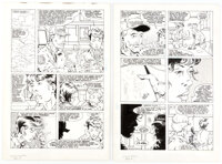 Bill Willingham and Rich Rankin Elementals #10 Story Pages 10 and 11 Original Art (Comico, 1986)