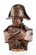 After Renzo Colombo (Italian, 1856-1885) Bust of Napoleon Bronze with brown patina Signed and da