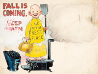 Richard F. Outcault - Yellow Kid Advertising Illustration Original Art (c. 1900-1910s)