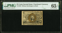 Fr. 1283 25¢ Second Issue PMG Gem Uncirculated 65 EPQ