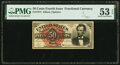 Fractional Currency:Fourth Issue, Fr. 1374 50¢ Fourth Issue Lincoln PMG About Uncirculated 53 EPQ.. ...