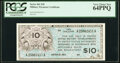 Military Payment Certificates:Series 461, Series 461 $10 PCGS Very Choice New 64 PPQ.. ...