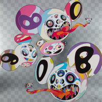 Takashi Murakami (b. 1962) This World and the World Beyond, 2013 Offset lithograph in colors on smoo