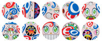Takashi Murakami (b. 1962) We Are the Jocular Clan (set of 10), 2018 Offset lithographs in colors on