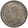 Early Half Dollars, 1806 50C Pointed 6, Stem, O-119a, T-27, R.5, AU53 PCGS. PCGS Population: (1/1 and 0/0+). NGC Census: (1/0 and 0/0+). AU53. ...