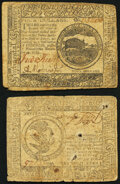 Continental Currency November 29, 1775 $4 Extremely Fine; Continental Currency November 2, 1776 $3 Very Good.</...