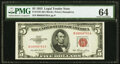 Fr. 1532 $5 1953 Legal Tender Note. PMG Choice Uncirculated 64