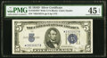 Fr. 1654* $5 1934D Silver Certificate. PMG Choice Extremely Fine 45 EPQ
