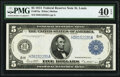 Fr. 875a $5 1914 Federal Reserve Note PMG Extremely Fine 40 EPQ