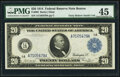 Fr. 965 $20 1914 Federal Reserve Note PMG Choice Extremely Fine 45