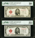Small Size:Legal Tender Notes, Fr. 1529 $5 1928D Legal Tender Note. PMG Very Fine 30;. Fr. 1529 $5 1928D Legal Tender Note. PMG About Uncirculated 55 EPQ... (Total: 2 notes)