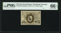 Fractional Currency:Second Issue, Fr. 1249 10¢ Second Issue PMG Gem Uncirculated 66 EPQ.. ...