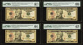 Small Size:Federal Reserve Notes, Two Rollover Pairs $10 Federal Reserve Notes PMG Graded.. 00048999 Fr. 2045-J 2017A Superb Gem Unc 67 EPQ;. 00049000 F... (Total: 4 notes)