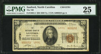 Sanford, NC - $20 1929 Ty. 2 The National Bank of Sanford Ch. # 13791 PMG Very Fine 25