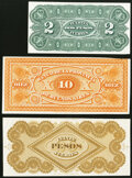 Argentina Group Lot of 3 Back Proofs Extremely Fine-About Uncirculated. ... (Total: 3 notes)
