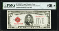 Small Size:Legal Tender Notes, Fr. 1531 $5 1928F Wide I Legal Tender Note. PMG Gem Uncirculated 66 EPQ★ .. ...