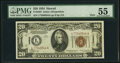 Small Size:World War II Emergency Notes, Fr. 2304 $20 1934 Mule Hawaii Federal Reserve Note. PMG About Uncirculated 55.. ...