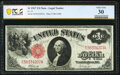 Large Size:Legal Tender Notes, Fr. 37 $1 1917 Legal Tender PCGS Banknote Very Fine 30.