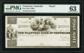 Obsoletes By State:Tennessee, Nashville, TN- Planters Bank of Tennessee No Denomination 18__ Post Note Proof PMG Choice Uncirculated 63.. ...