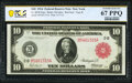 Large Size:Federal Reserve Notes, Fr. 893b $10 1914 Red Seal Federal Reserve Note PCGS Banknote Superb Gem Unc 67 PPQ.. ...
