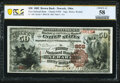 Newark, OH - $50 1882 Brown Back Fr. 508 The First National Bank Ch. # 858 PCGS Banknote Choice AU 58.<