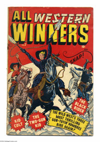 All Western Winners #2 (Marvel, 1948) Condition: GD+. First issue this title. Origin and first appearance Black Rider an...