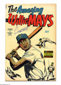 Golden Age (1938-1955):Non-Fiction, The Amazing Willie Mays #nn Autographed Copy (Famous Funnies, 1954)Condition: VF-. Not only does Willie Mays star in the co...