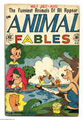 Golden Age (1938-1955):Funny Animal, Animal Fables #1 (EC, 1946) Condition: VG/FN. Freddy Firefly (cloneof the Human Torch), Korky Kangaroo, Petey Pig, Danny De...