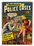Authentic Police Cases #14 (St. John, 1951) Condition: VG. Matt Baker cover. Overstreet 2004 VG 4.0 value = $48