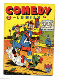 "Golden Age (1938-1955):Humor, Comedy Comics #10 (Timely, 1942) Condition: VG+. Overstreet andGerber ""scarce"". Origin the Fourth Musketeer and Victory Boy..."