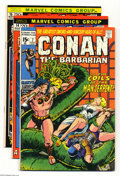Bronze Age (1970-1979):Miscellaneous, Conan the Barbarian Group (Marvel, 1971-72) Condition: Average VF.This group includes #7, 14, 15, and 17. Artists include B...(Total: 4 Comic Books Item)