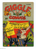 Golden Age (1938-1955):Funny Animal, Giggle Comics #14 (Creston, 1944). White pages. Overstreet 2004 VF8.0 value = $46....