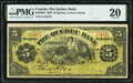 Canada Quebec, LC- Quebec Bank $5 1.6.1908 Pick S1362 Ch.# 620-48-04-02 PMG Very Fine 20