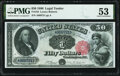 Large Size:Legal Tender Notes, Fr. 164 $50 1880 Legal Tender PMG About Uncirculated 53.. ...