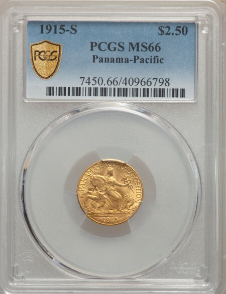 1915-S $2 1/2 Panama-Pacific Quarter Eagle PCGS Secure 66 PCGS