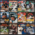 """Baseball Collectibles:Publications, 1970's-90's Baseball Hall of Famers & Stars on """"Sports Illustrated"""" lot of 43...."""