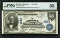 Omaha, NE - $50 1902 Date Back Fr. 668 The Omaha National Bank Ch. # 1633 PMG About Uncirculated 55